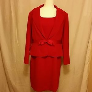 NWOT. Fully lined sleeveless dress with jacket